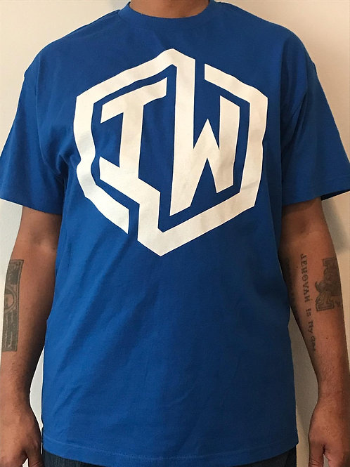IWHIN Tee, Royal Blue With White IW Logo