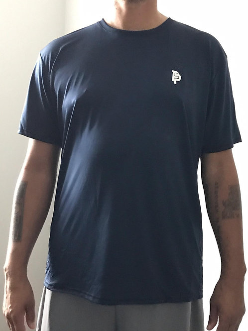Men's PP Quicker Dry Navy Blue Short Sleeve Performance Tee