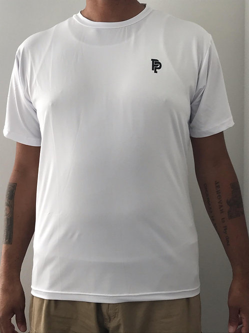 Men's PP Quicker Dry White Short Sleeve Compression Shirt