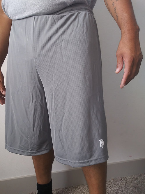 Men's PP Quicker Dry Long Grey Performance Shorts