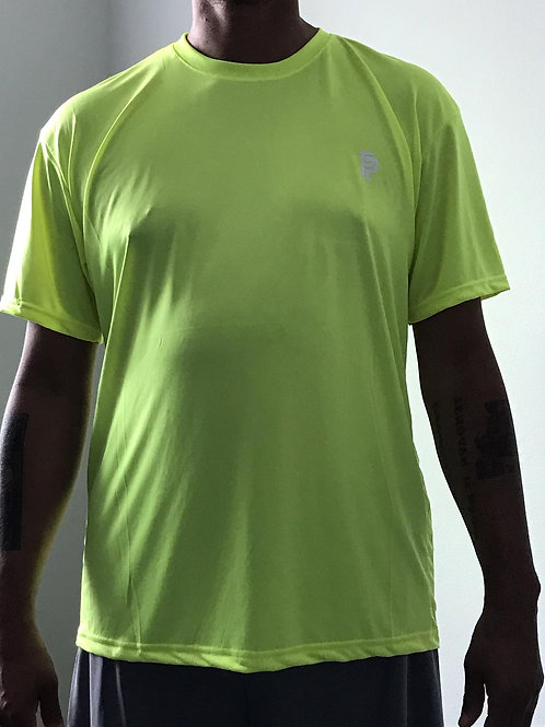 Men's PP Quicker Dry Neon Yellow Short Sleeve Performance Tee