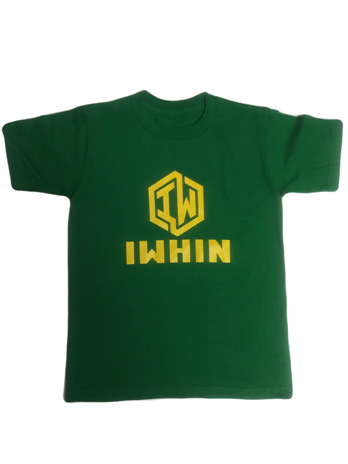 IWHIN Green Tee With Gold Logo