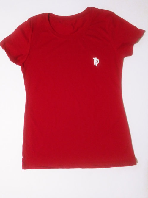 Women's PP Quicker Dry Red Tee