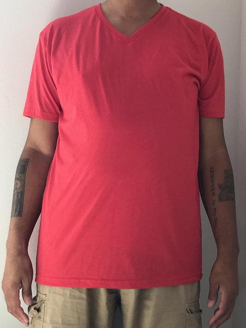 Men's CT Quicker Dry Red V-Neck Tee