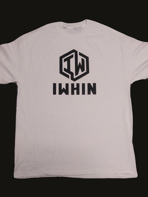 IWHIN White Tee With Black Logo