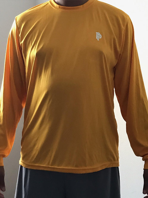 Men's PP Quicker Dry Yellow Long Sleeve Performance Tee
