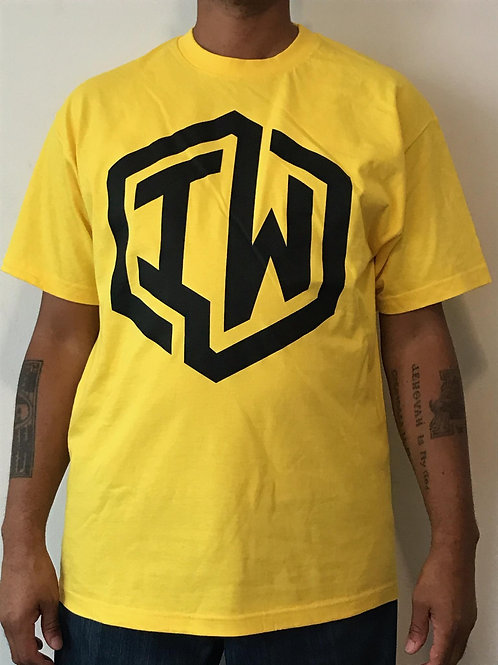IWHIN Tee, Yellow With Black IW Logo