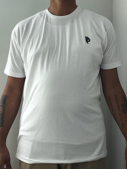 Men's SS Quicker Dry White Short Sleeve Poly Tee
