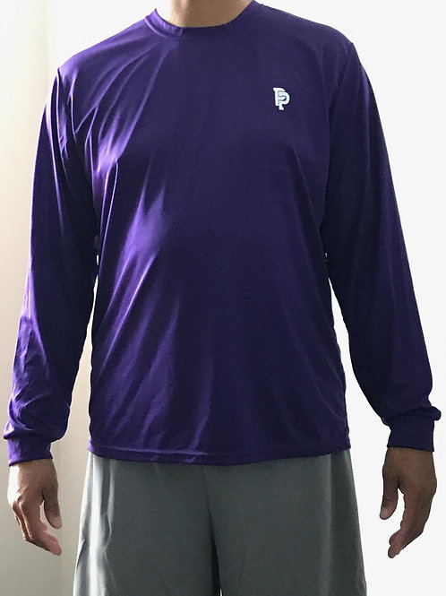 Men's PP Quicker Dry Purple Long Sleeve Performance Tee