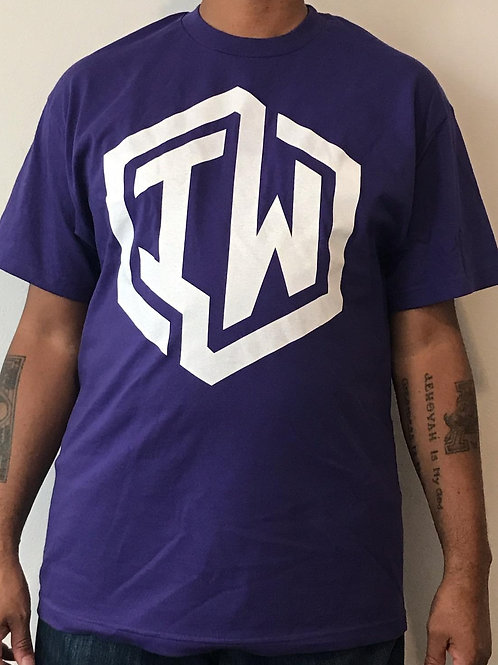 IWHIN Tee, Purple With White IW Logo