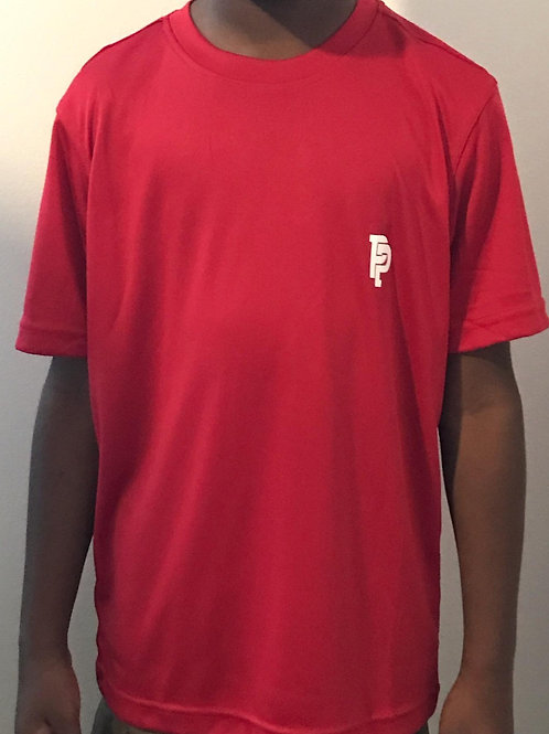 Youth PP Quicker Dry Red Performance Shirt