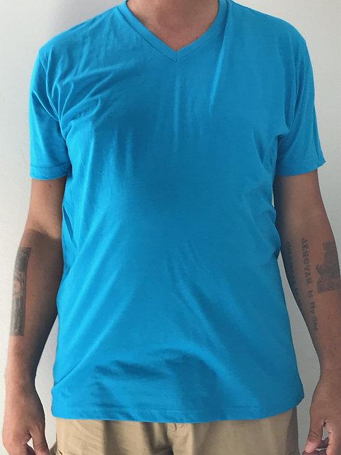 Men's CT Quicker Dry Turquoise V-Neck Tee