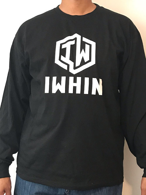 IWHIN Long Sleeve Black Tee