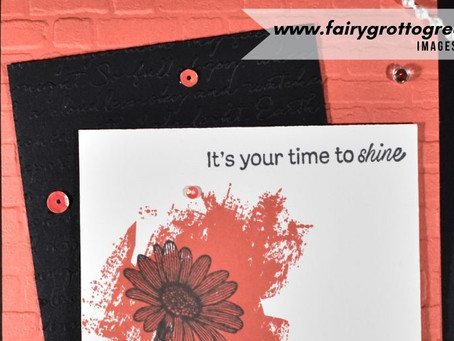 Stampin' Up!'s Daisy Lane in Calypso Coral and Basic Black
