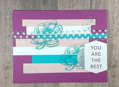 Paper Scraps Encouragement Card with Sneak Peek at Tasteful Touches Stamp Set