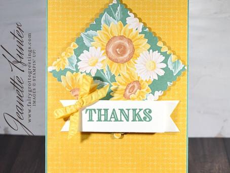 "Stampin' Up!'s Ornate Garden Handmade ""Thanks"" Card"