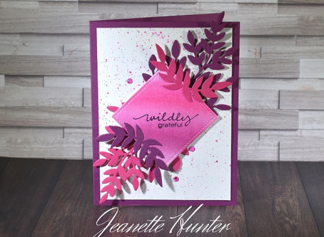 Wildly Grateful Card with Stampin' Up! Products