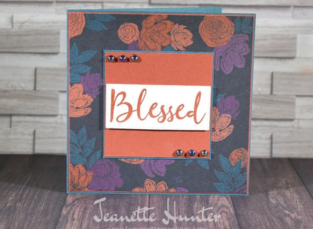 Magic in this Night Designer Series Paper - Blessed Card for Fall
