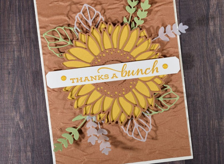 Thanks a Bunch Sunflower Card Featuring New Products from the Upcoming Stampin' Up! Annual Catalog