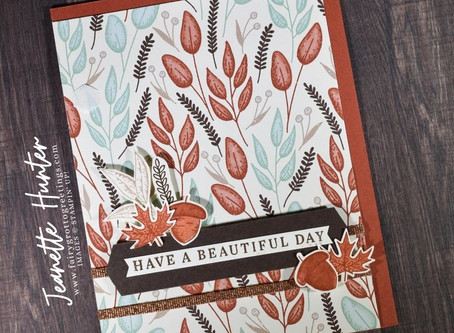 Gilded Autumn - Have a Beautiful Day - Fall Card