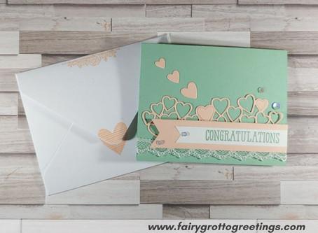 Simple Congratulations Card in Petal Pink & Mint Macaron