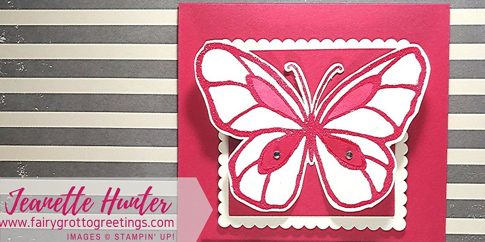 Card in Lovely Lipstick using the Beautiful Day stamp set