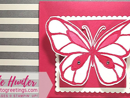 Say Goodbye to Lovely Lipstick & Beautiful Day Stamp Set