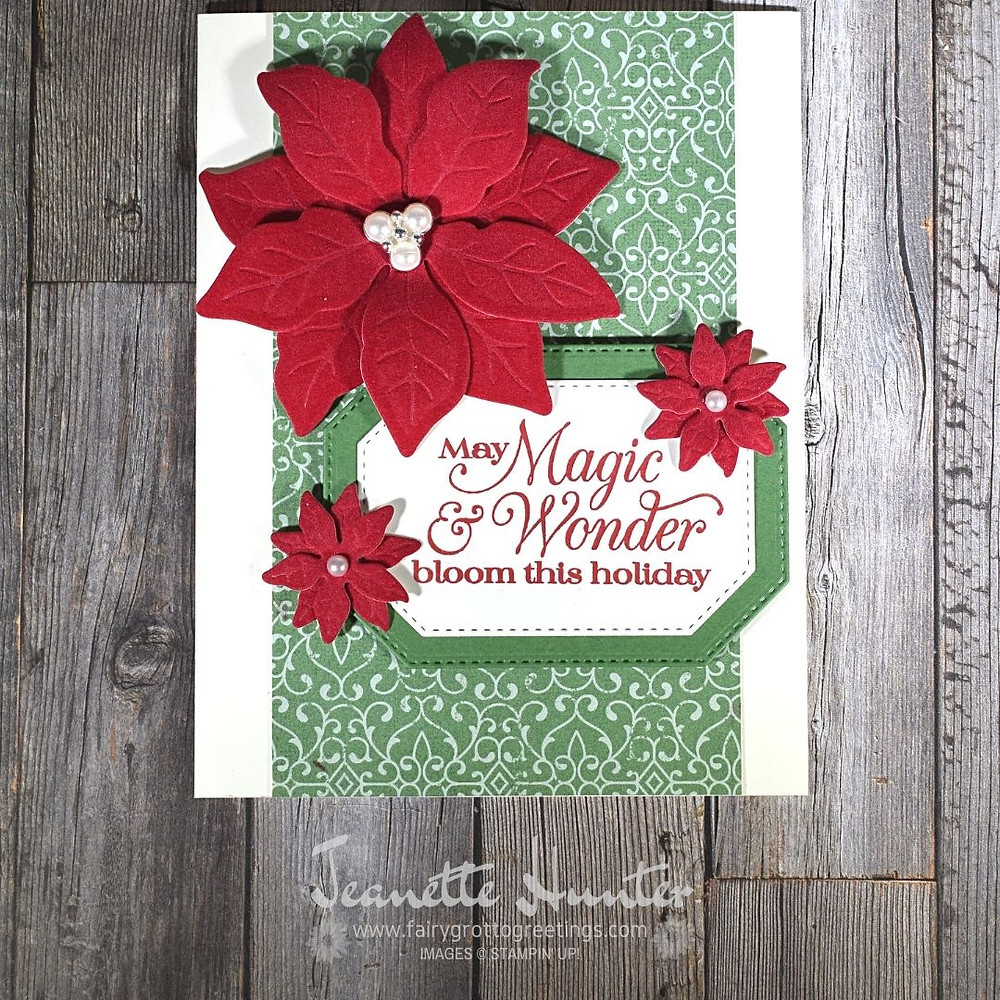 Handmade card using Poinsettia Place suite from Stampin' Up!