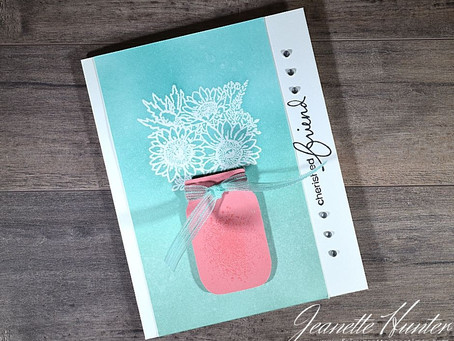 Cherished Friend Jar of Flowers Card with Stampin' Up!