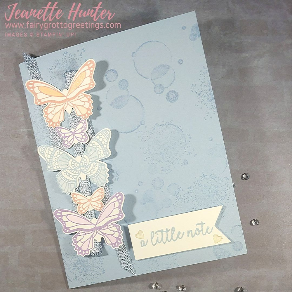 Just a little note card in Seaside Spray using Stampin' Up! products