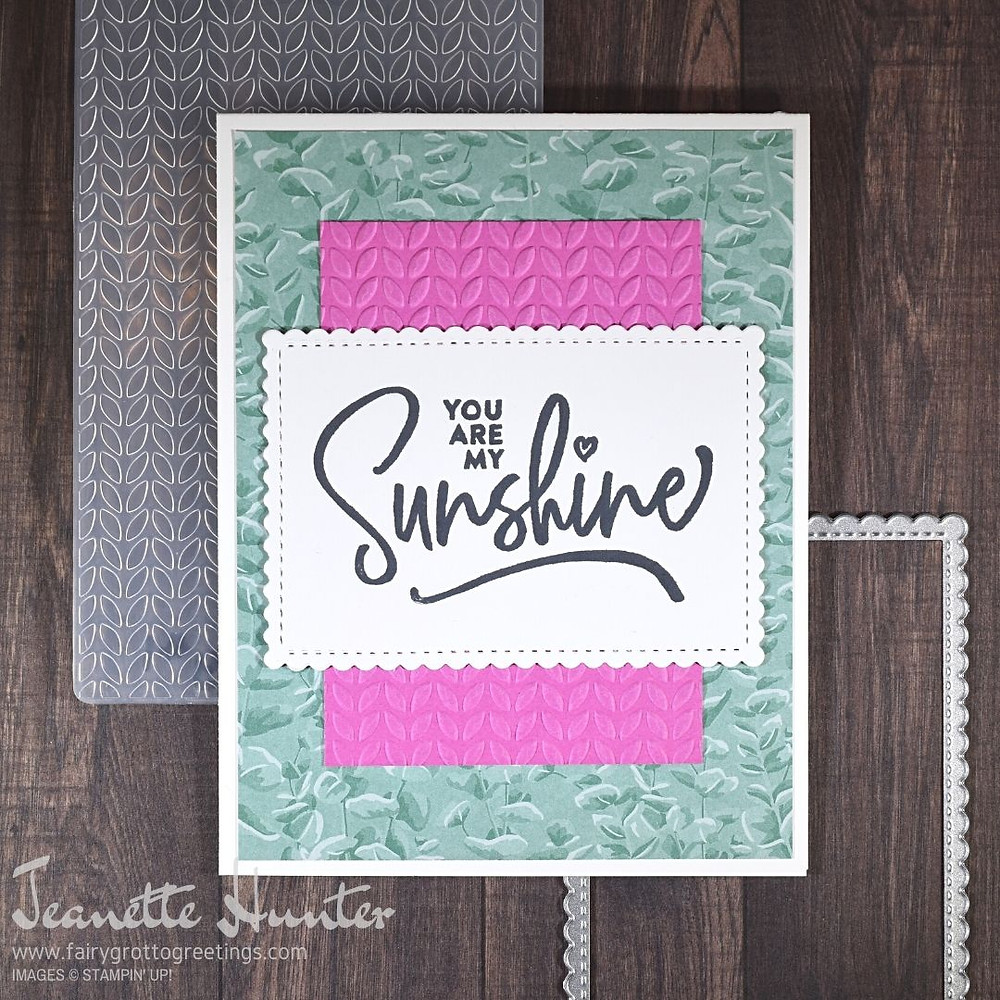 Handmade encouragement card using Stampin' Up! products