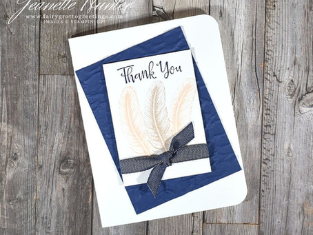 Simple Thank You Card with Tasteful Touches & Peaceful Moments