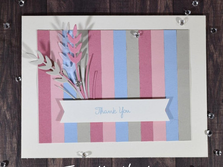Simple Thank You Card - Using Up My Scraps!