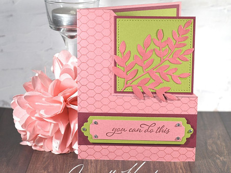 """You can do this"" Encouragement Card with Stampin' Up!'s Forever Fern Bundle"