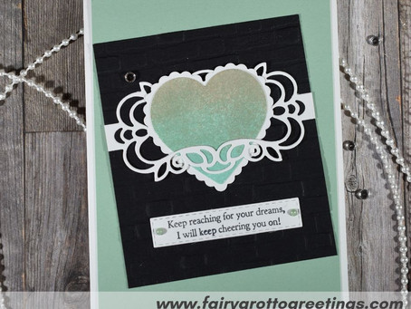 Simple Encouragement Card for Friend in Mint Macaron & Basic Black