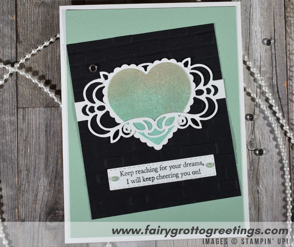 Image of handmade inspirational card using Stampin' Up! products using Mint Macaron and Sahara Sand colors