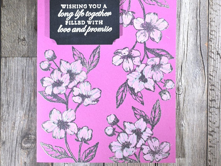 Forever Blossoms Wedding Card - Created in 10 Steps