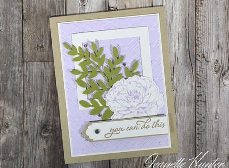 Soft Encouragement Card Prized Peony