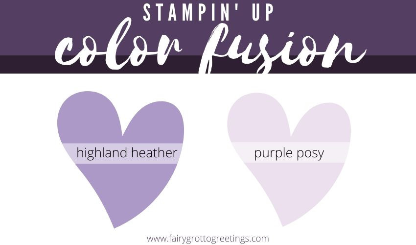 Stampin' Up! Color Fusion Highland Heather and Purple Posy