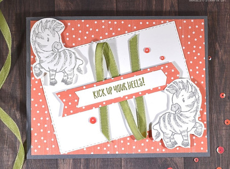 Zany Zebras Handmade Card with Mirror Stamping