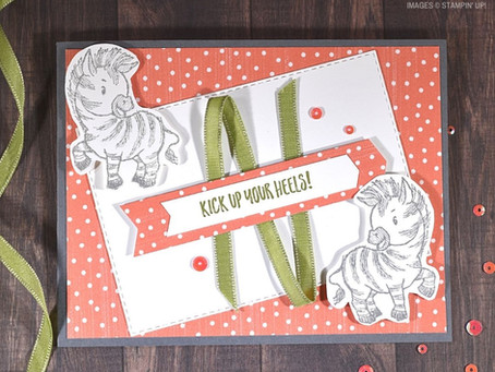 Zany Zebras Handmade Card with Mirror Stamping