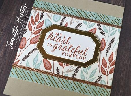Gilded Autumn Specialty Designer Series Paper - Grateful