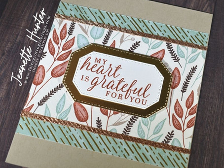 Gilded Autumn Specialty Designer Series Paper - Grateful