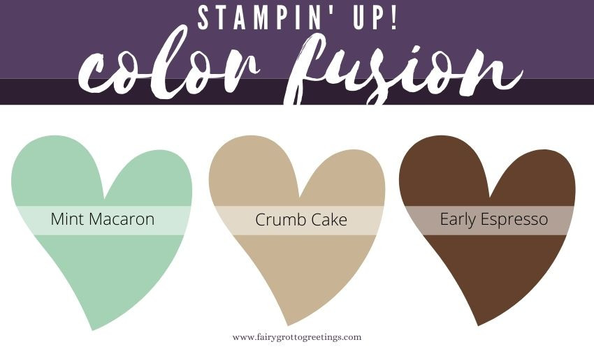 Stampin' Up! Color Fusion inspiration in Mint Macaron, Crumb Cake and Early Espresso colors.