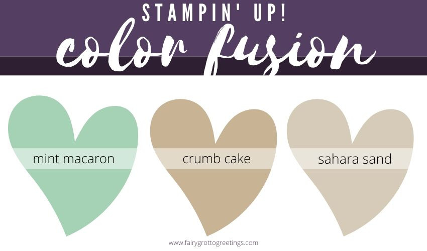 Stampin' Up! Color Fusion inspiration in Mint Macaron and Crumb Cake