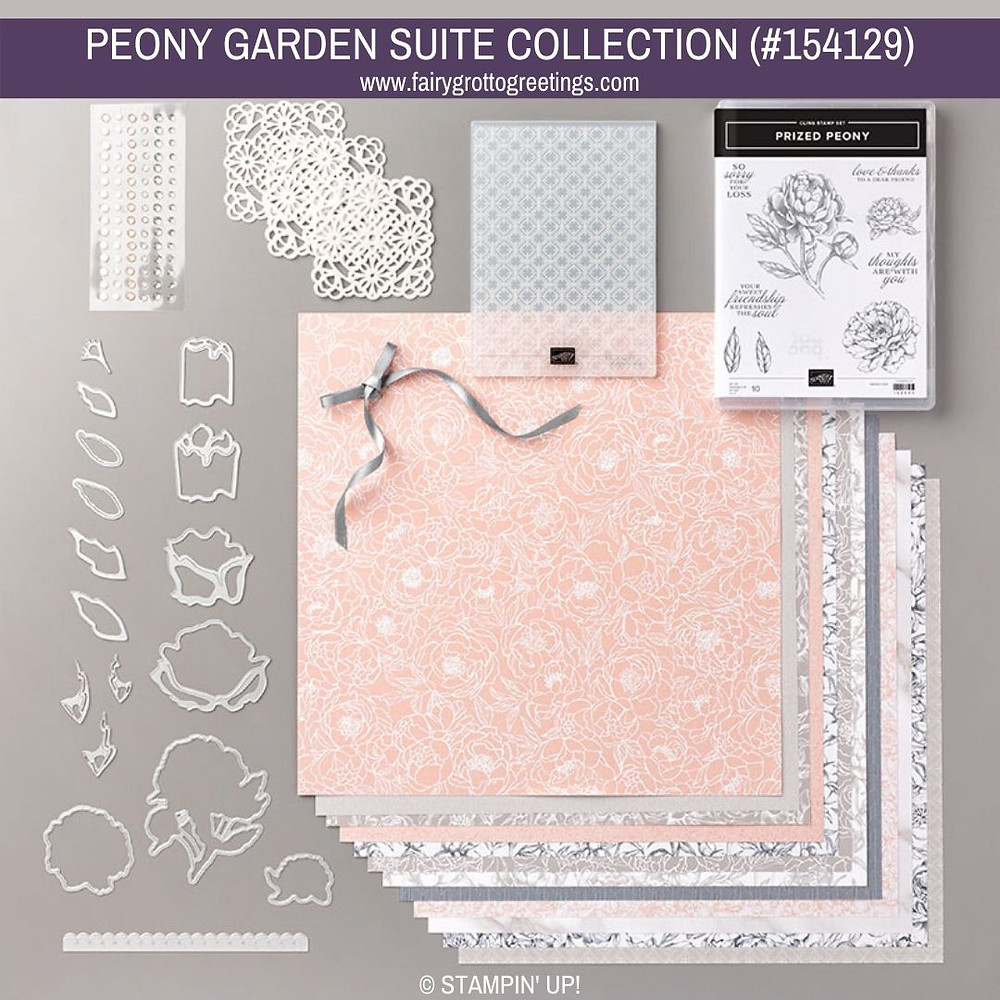 Image from Stampin' Up! of the Peony Garden Suite Collection (154129)