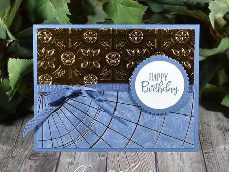 Handmade Masculine Happy Birthday Card