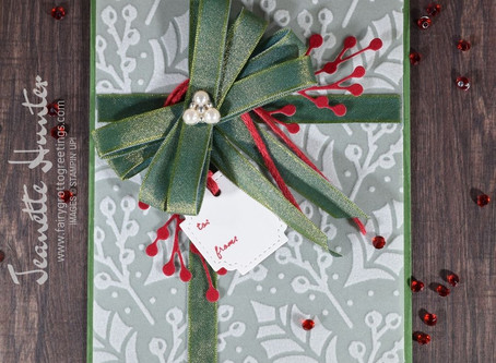 Plush Poinsettia Present Card