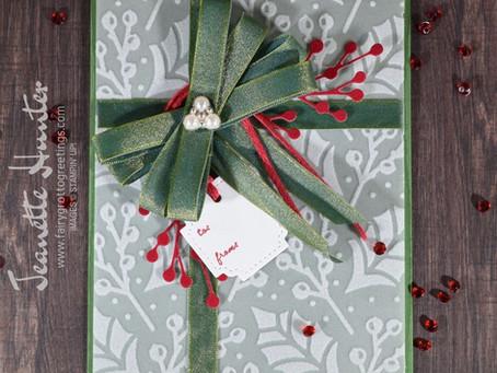 Plush Poinsettia Present Card