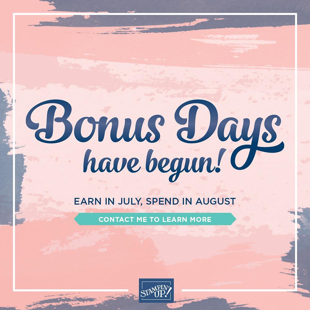 2020 Stampin' Up! Bonus Days Have Begun!
